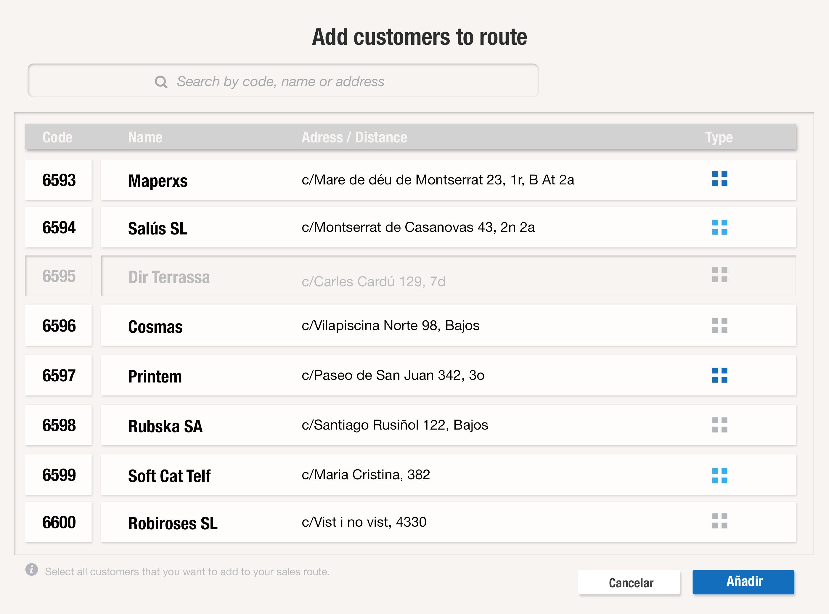 Añade todos los clientes que tienes que ir a visitar para que se creen rutas de forma automática y utilízalas como GPS con uSell CRM