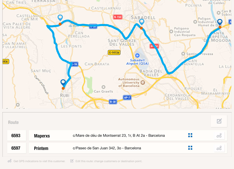 Realiza todas tus rutas comerciales fácilmente y de forma automática con uSell CRM, el mejor crm para realizar rutas comerciales