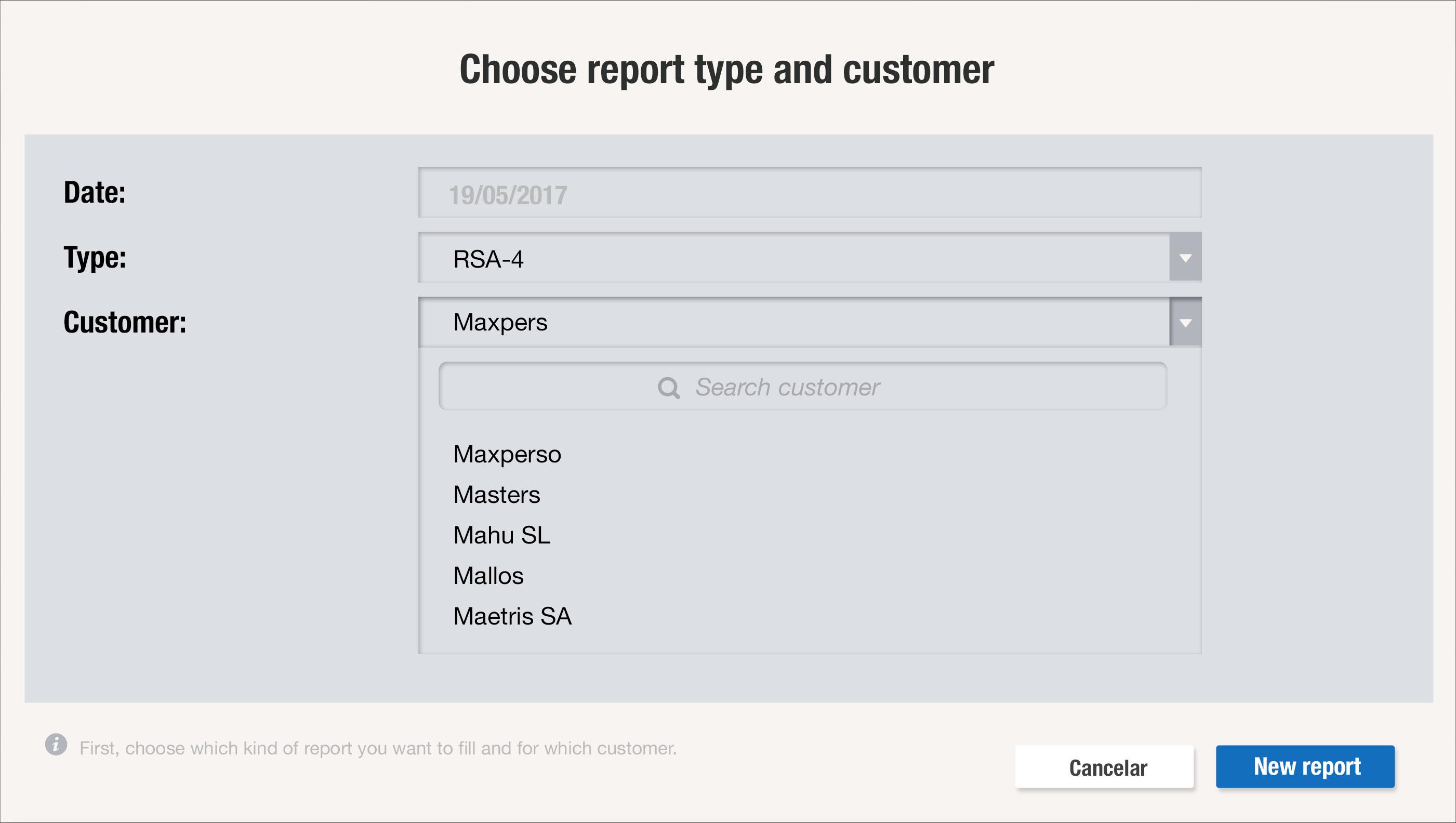 Configura cualquier estructura y tipología de report para que los comerciales puedan rellenarlos y completarlos con la información adecuada para tener mayor control comercial gracias a uSell CRM