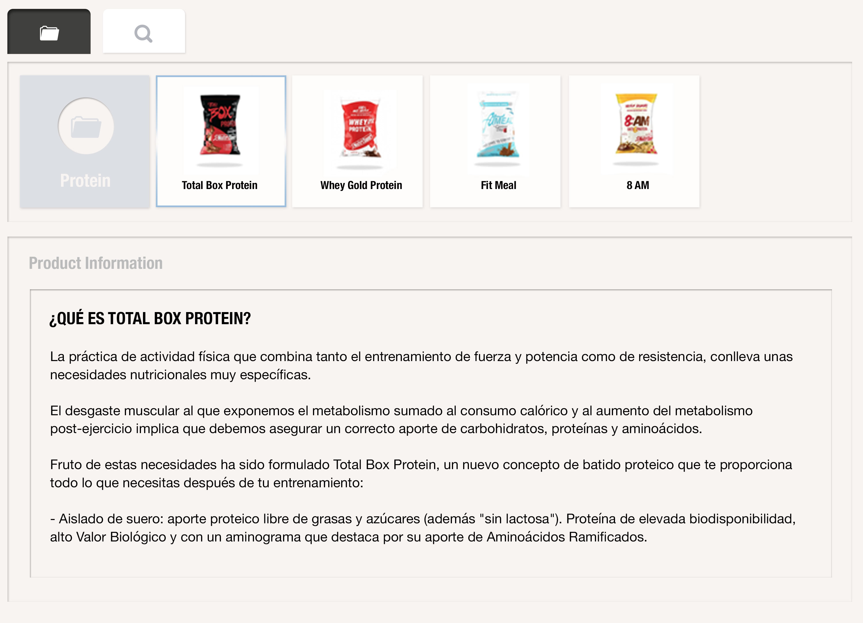 Accede en cualquier momento a la información detallada del producto para profundizar en la información y poder detallar los argumentos de venta y así convencer al cliente de realizar la compra con uSell CRM